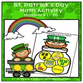St. Patrick's Day  Math Activity Numbers 1 - 20