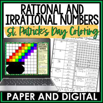St. Patrick's Day Math Activity: Rational and Irrational Numbers Review