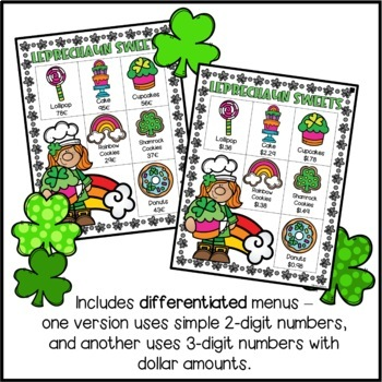 St. Patrick's Day Math Activity - Run a Leprechaun Bakery
