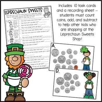 St. Patrick's Day Math Activity - Run a Leprechaun Bakery