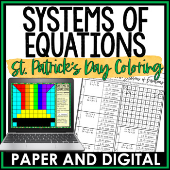 St. Patrick's Day Math Activity: Systems of Equations
