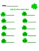 St. Patrick's Day Math Addition Kinder Practice Pages - NO PREP