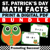 St. Patrick's Day Math Activities BUNDLE Addition and Subtraction Task Cards