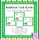 St. Patrick's Day Math Addition Task Card Bundle