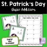 St. Patrick's Day Math: Single Digit Addition Task Cards