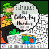 St. Patrick's Day Math- Addition to 10 Color By Number