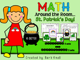 St. Patrick's Day: Math Around the Room Addition/Subtract