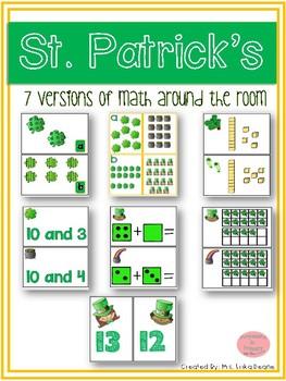 St. Patrick's Day Math Around the Room Bundle