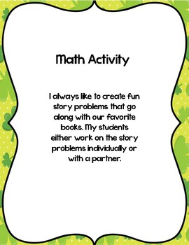 St Patrick's Day Math, Art, Science, Writing and Language Arts Bundle