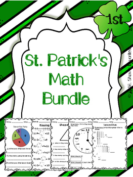 St. Patrick's Day Math Worksheets {First Grade}