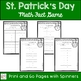 St. Patrick's Day Math Fact Center - Leprechaun Spin and Solve