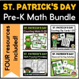 St. Patrick's Day Math Center Activities Bundle for Preschool