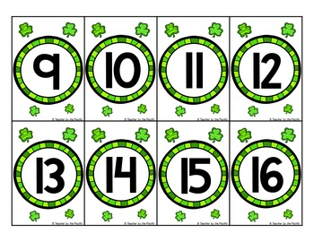 St. Patrick's Day Math Center: Count the Room 1 - 20 {BUNDLE}