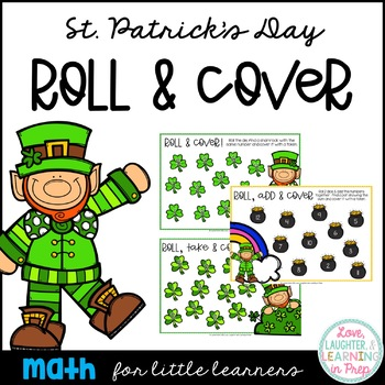 St. Patrick's Day Math Center {Roll & Cover}