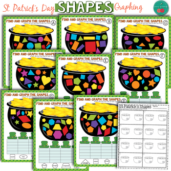 St Patrick's Day Math Center - Shapes