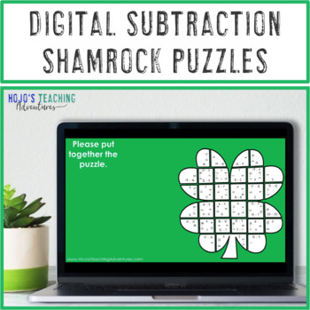 St. Patrick's Day Math Centers: Subtraction Shamrock Puzzles