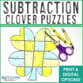 SUBTRACTION St. Patrick's Day Math Games, Centers, Activities, or Cute Decor
