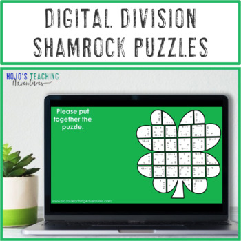 St. Patrick's Day Math: Division Clover Puzzles