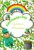 St Patrick's Day Math Centers Spanish / San Patricio Centr