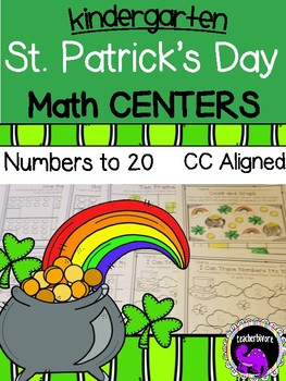 St. Patrick's Day Math Centers for Kindergarten