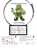 St. Patrick's Day Math Challenge for 3rd grade, escape room style
