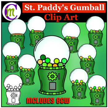 St. Patrick's Day Math Clip Art  Gumballs Counting Clipart