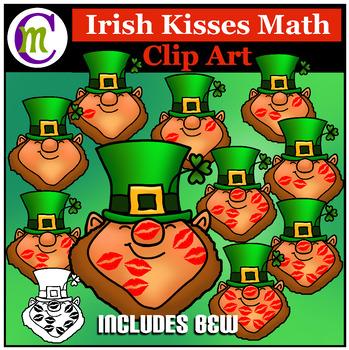 St. Patrick's Day Math Clip Art  Leprechaun Kisses