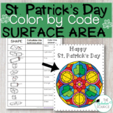 St. Patrick's Day Math Color By Code Surface Area Activity