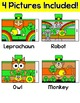 St. Patrick's Day Math Color by Code Characters: Leprechau