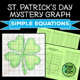 St. Patrick's Day Math Coordinate Graph Picture
