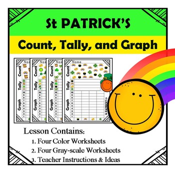 St Patrick's Day Math - Count, Tally, & Graph