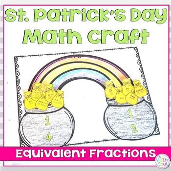 Rainbow Math Craft Equivalent Fractions