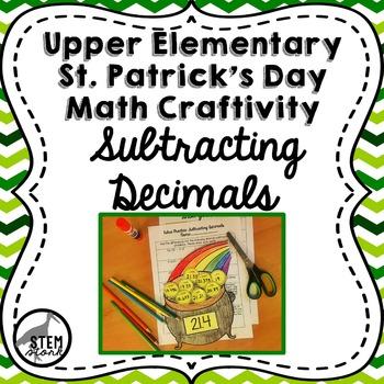 St. Patrick's Day Math Craft: Subtracting Decimals