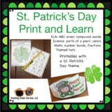 St. Patrick's Day Math, ELA, Science, No Prep, Print and Go