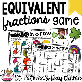 St. Patrick's Day Math Equivalent Fractions Game