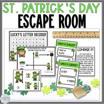 St. Patrick's Day: Math Escape Room
