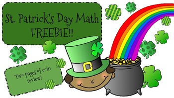 St. Patrick's Day Math FREEBIE! Coin Review