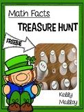 St. Patrick's Day Math Facts Treasure Hunt  Freebie - Addi
