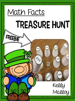 St. Patrick's Day Math Facts Treasure Hunt FREEBIE