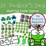 St. Patrick's Day Math File Folder Games