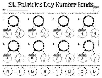 St. Patrick's Day Math Addition First Grade
