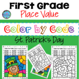 St. Patrick's Day Math First Grade Place Value (Tens and O