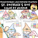 St Patrick's Day Math Fractions Color by Number
