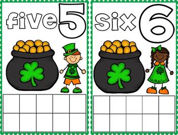 St. Patrick's Day Math Frame Cards
