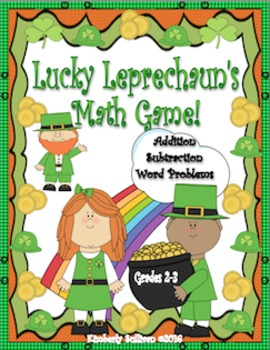 St. Patrick's Day Math Game Addition Subtraction Word Prob