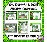 St. Patrick's Day Math Games:  2nd Grade BUNDLE