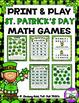 St. Patrick's Day Math Games:  2nd Grade BUNDLE