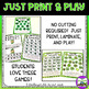 St. Patrick's Day Math Games:  2nd Grade Print and Play