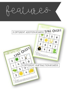 St. Patrick's Day Math Games - Addition and Subtraction TAKE OVER!