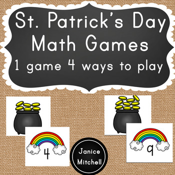St Patrick's Day Math Games for K to 2
